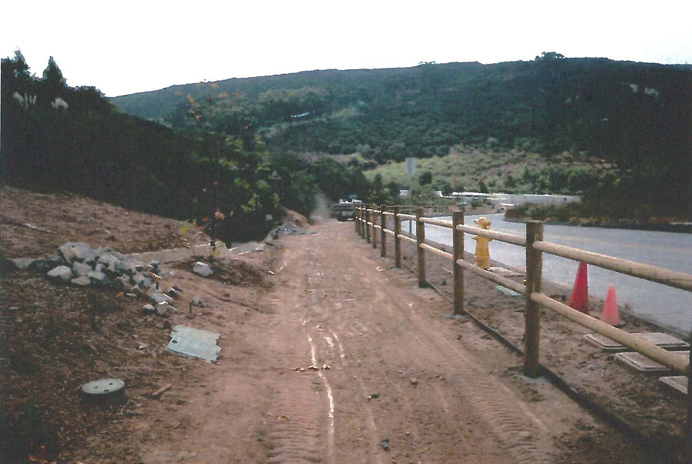 Lower Del Mar Mesa Rd before improvements