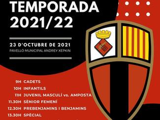 Presentació de la temporada 2021/22