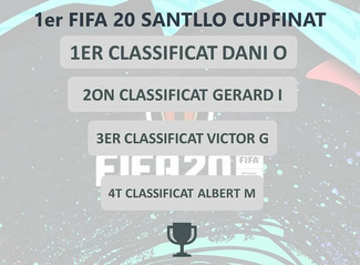 DANI OLONA, CAMPIÓ DEL 1R TORNEIG FIFA20 SANTLLO CUPFINAT