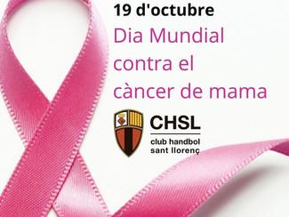 19 d'octubre: Dia Mundial Contra el Càncer de Mama.