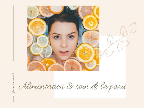 Alimentation et soin de la peau