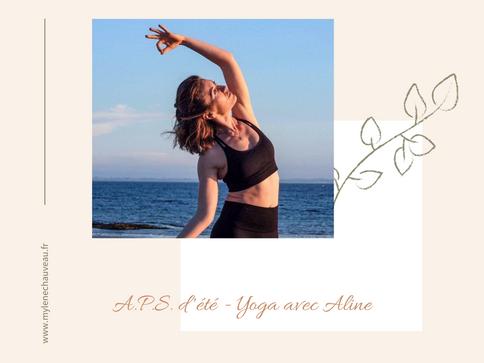 A.P.S. d'été - Yoga avec Aline