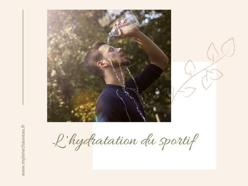 Hydratation et activités physiques et sportives