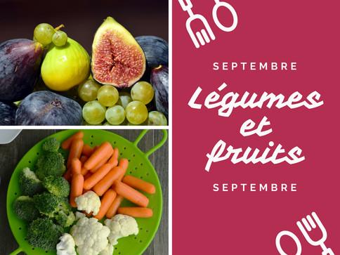 Les légumes et fruits de septembre