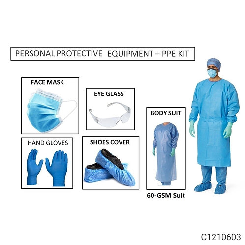 PPE KIT - Covid-19 PPE KIT With Full Body Cover All ( 60 GSM )