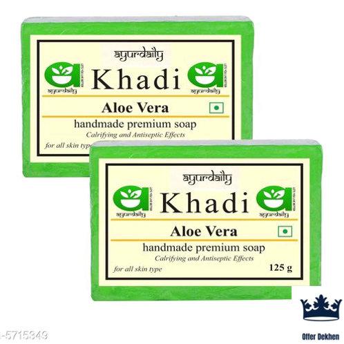 Ayurdaily Khadi Aloevera Soap Pack of 4