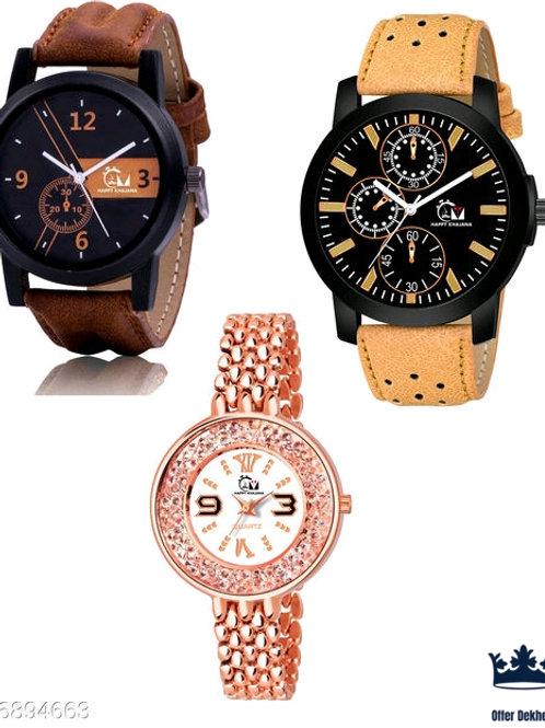 Stylish Women Watches Pack of 3