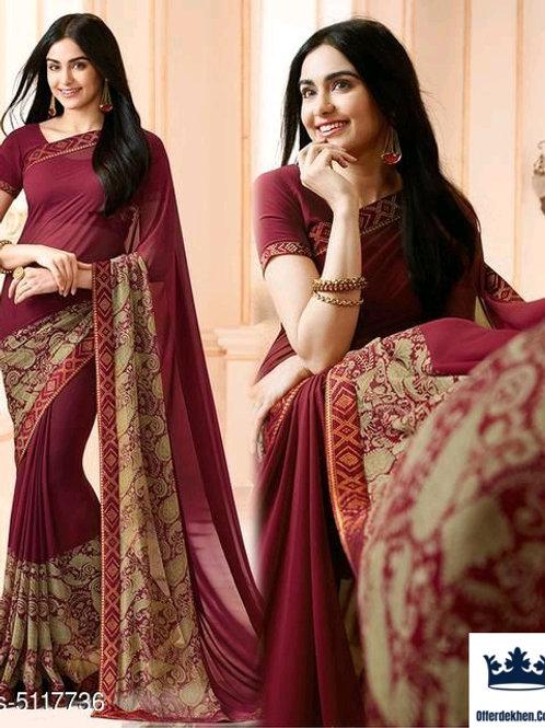 (Free Mask) Myra Drishya Sarees  Saree Fabric:Georgette Blouse: Separate Blouse
