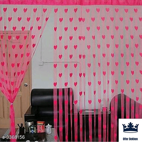 Fashionable Net Polyester Door Curtains Combo Vol 1