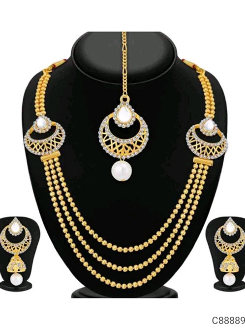 Traditional Gold Plated Jewellery Set