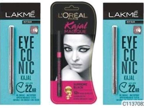 Eye Kajal From Lakme & L'oreal Paris Combo Packs