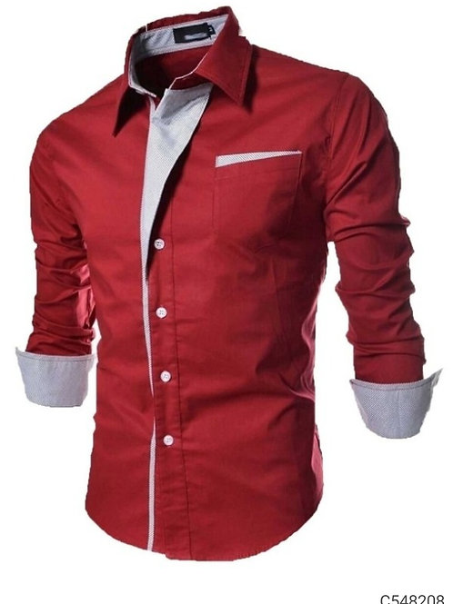 Cotton Solid Slim Fit Shirt Vol-2
