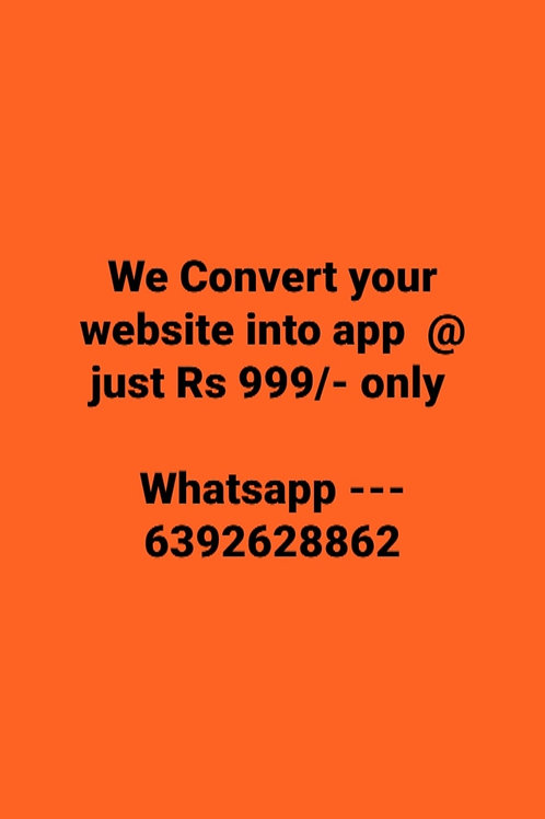 Convert website into Android app