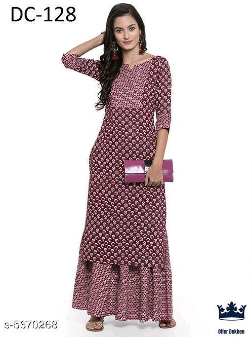 Women's Printed Rayon Kurta Sets