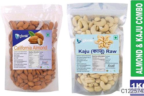 Glomin Kaju & Almond combo 1kg(500g Each)