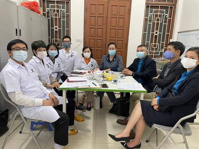 Lãnh Đạo Công Đoàn Y Tế Việt Nam Đến Thăm, Làm Việc Với Công Đoàn Viện IRDOP