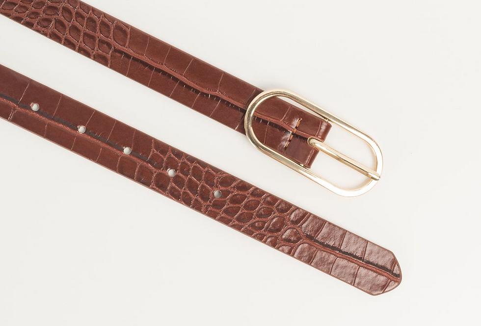 Cintura con fibbia ovale