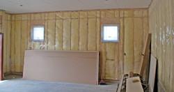 Install insulation to garage conversion