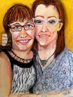 Kate & Jen in Pastels