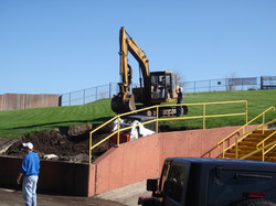 Excavating for new Lawn Deck