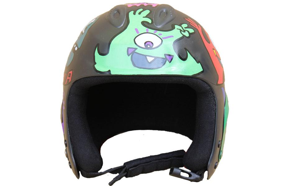 Decorated Snowboard helmet