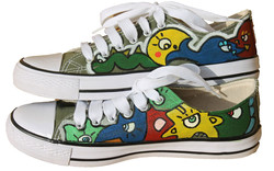 Cotton male sneakers