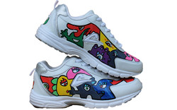 Leather female sneakers