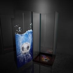 footbal supporter shower box door