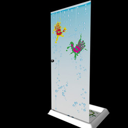 funny shower box door