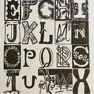 Alpha Releif Print