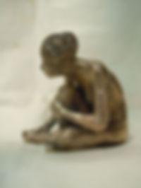 petite sculpture en bronze après ciselure et avant patine
