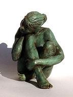 sculpture en résine patinée façon bronze