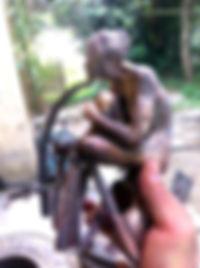 petite sculpture en bronze avant ciselure et patine
