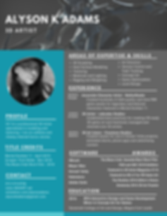 Blue Simple Image Photo Resume.png