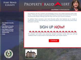Fort Bend County to Offer Property Fraud Alert