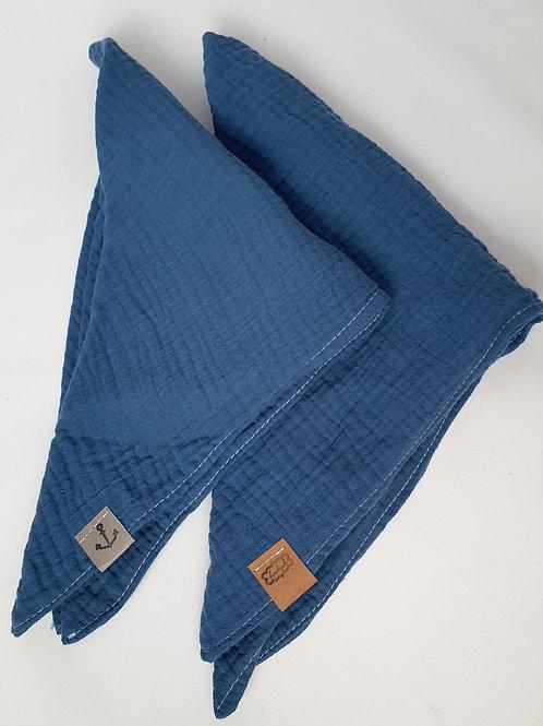 Musselin Tuch Blau