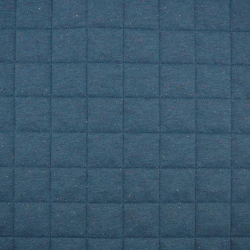 Steppstoff Jersey Konfetti Melange - dunkelblau