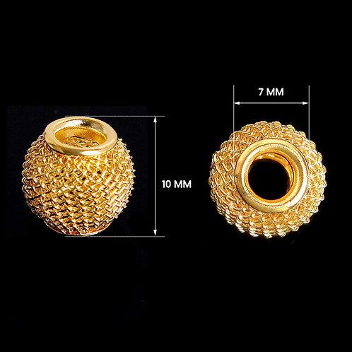 Metallperlen 10cm Gold