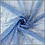 Thumbnail: Glitzertüll mit Goldenen Perlen dunkel jeansblau