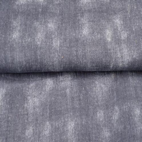 Musselin Jeansoptik Grau