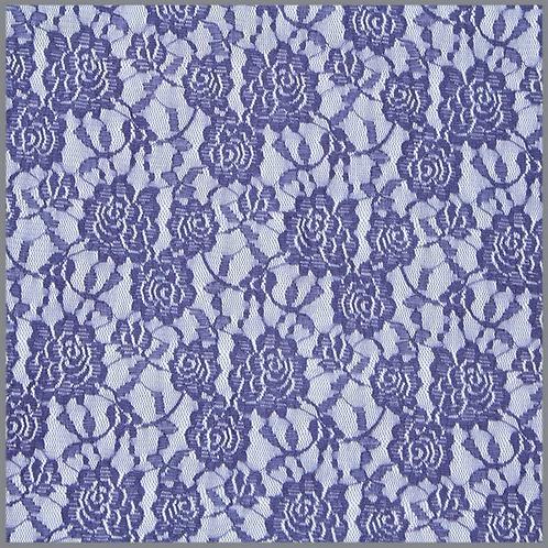 Mesh Spitze mit Blumen blauviolett