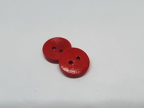 Holzknöpfe Rot lackiert