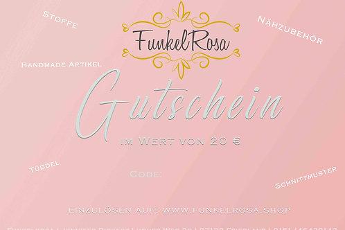 Shop Gutschein 20€