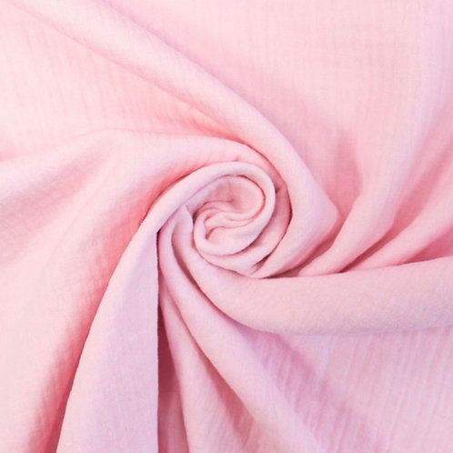 Musselin Uni Zart Rosa