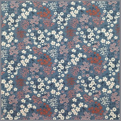Baumwolle Frühlingswiese dunkeljeansblau