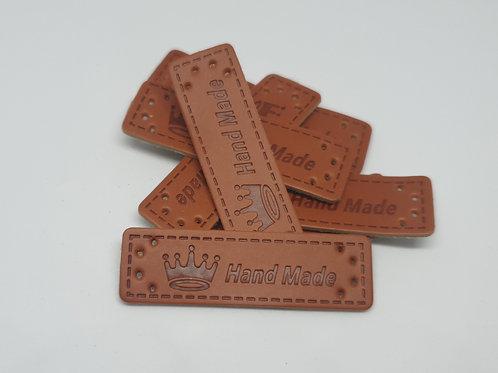 Handmade Label Kunstleder Krone