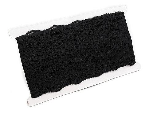 Spitzeband 50 mm breit schwarz