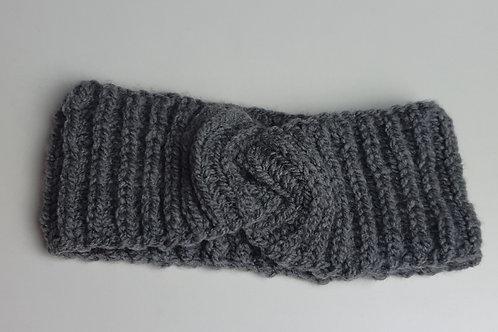 Handmade Stirnband Grau Ku46-48
