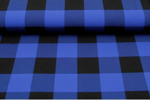 Baumwolljersey Lumberjack Blau Schwarz