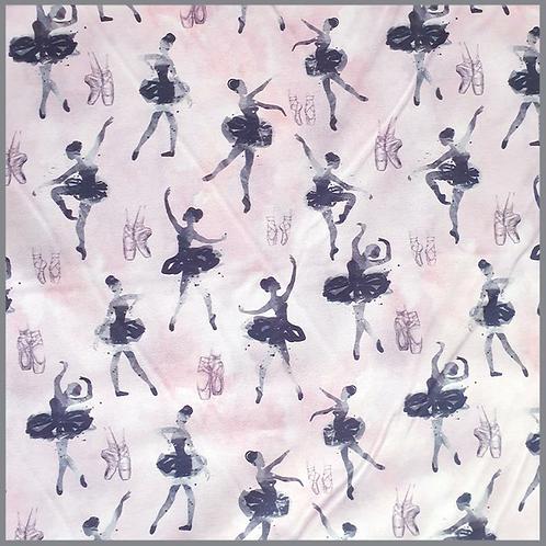 Baumwolle Tanzende Ballerinas rosa